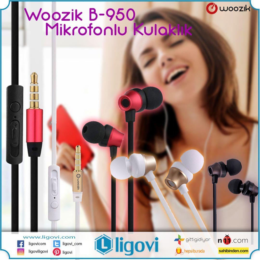 Woozik B-950 Mikrofonlu Kulak İçi Kulaklık