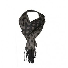Polka Dot Scarf - Great addition to your closet for colder weather and trendy polka dots ! Item # 3408  $26