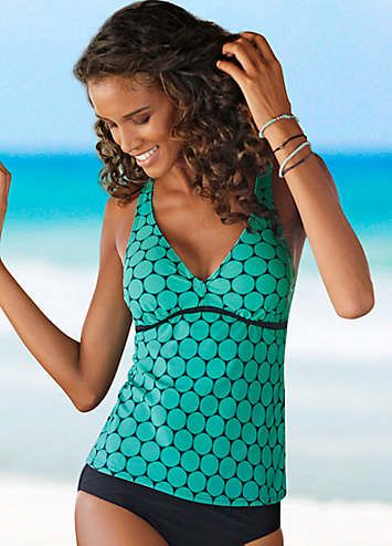 de01188b62c9d Oliver Turquoise Print Underwired Tankini | Tankinis | Womens | Swimwear365  Trendy Fashion,