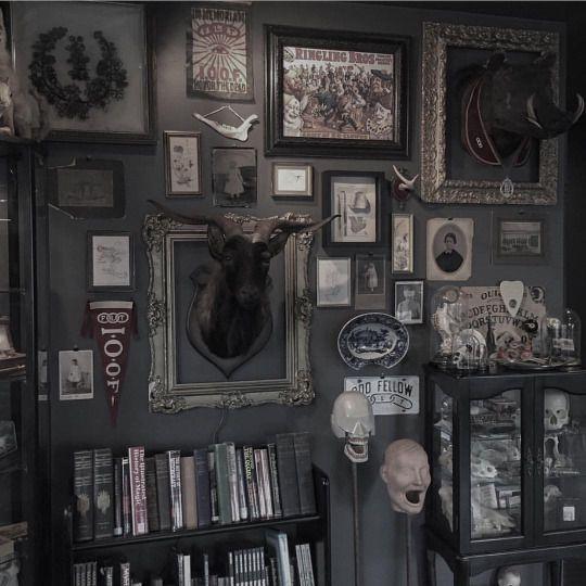 Stranger Than Vintage: Dark Interiors: Macabre Charm in ... |Macabre Interiors