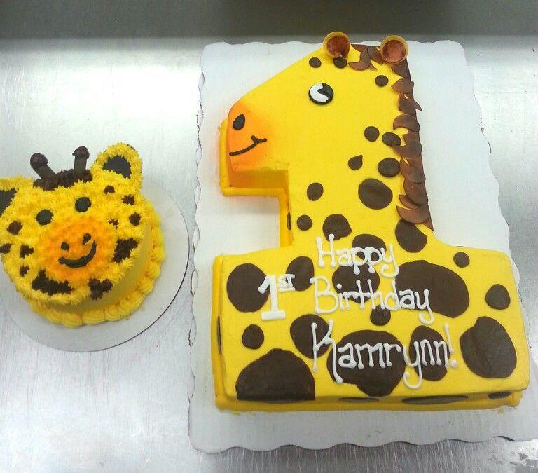 First Birthday Giraffe Cake Balians First Birthday Pinterest