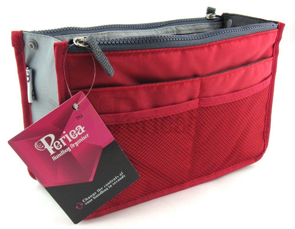 Periea Handbag Organizer Liner Insert 12 Pockets Large Le