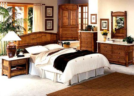 Rattan Specialties Bamboo Bedroom Suite Model Bc600 Tropical