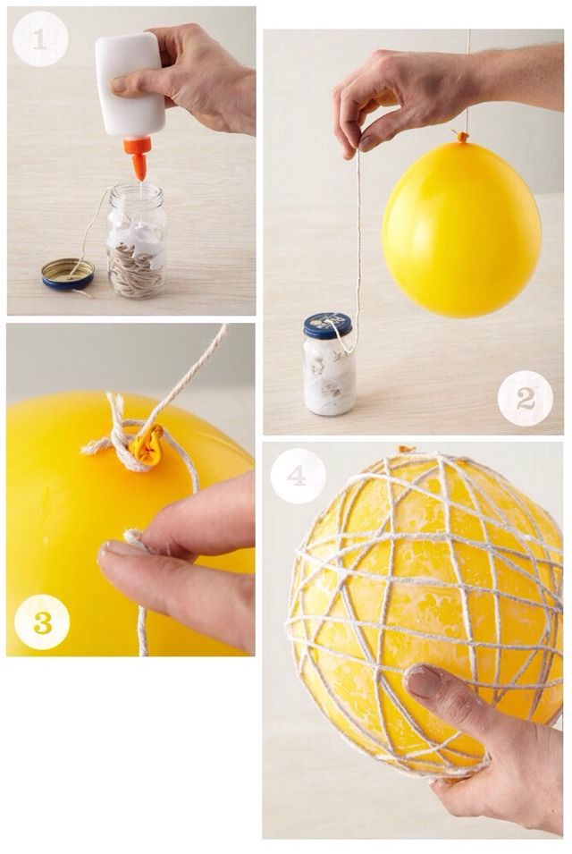 Diy String Wrapped Balloons