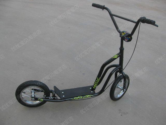 400mm Big Wheel Kids And Adults Kick Scooter With Safe Bike Handle