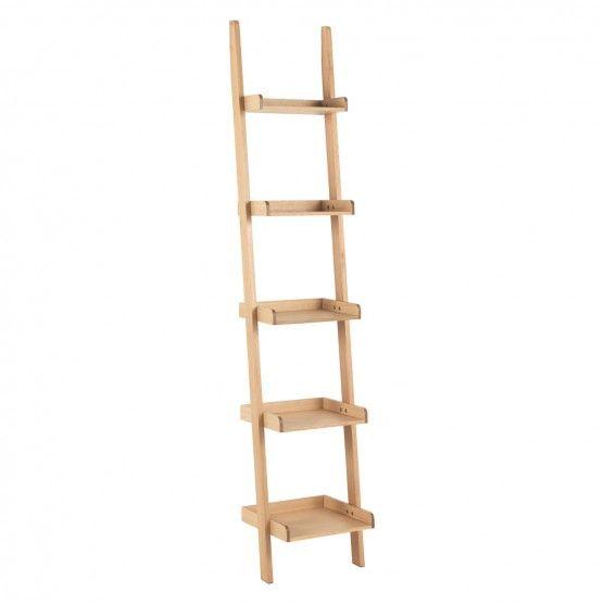 JESSIE Oak narrow leaning bookcase | Decorative objects, Storage ...