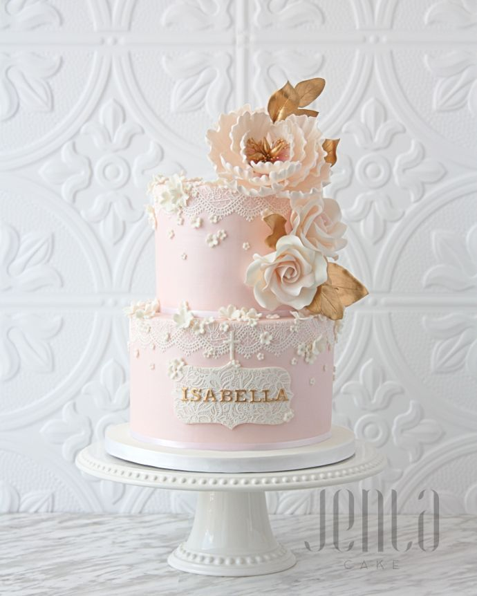 Perfect For A Christening Or Baptism, This Pink Cake