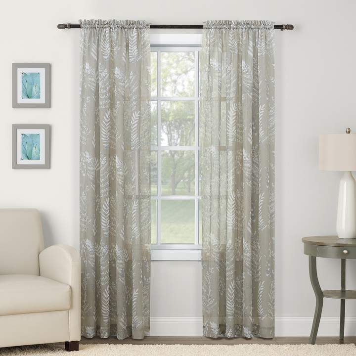 Sonoma Goods For Life 2 Pack Sheer Crushed Voile Misty Floral