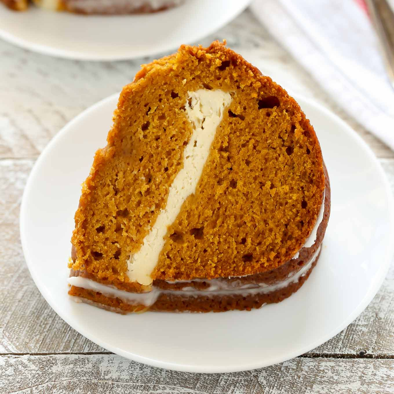 Pumpkin Cream Cheese Bundt Cake Live Well Bake Often Cake Recipes In 2019 Pumpkin Bundt