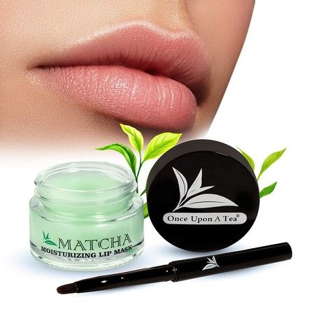 Photo of Moisturizing Green Tea Matcha Sleeping Lip Mask Balm, Younger Looking Lips Overnight,