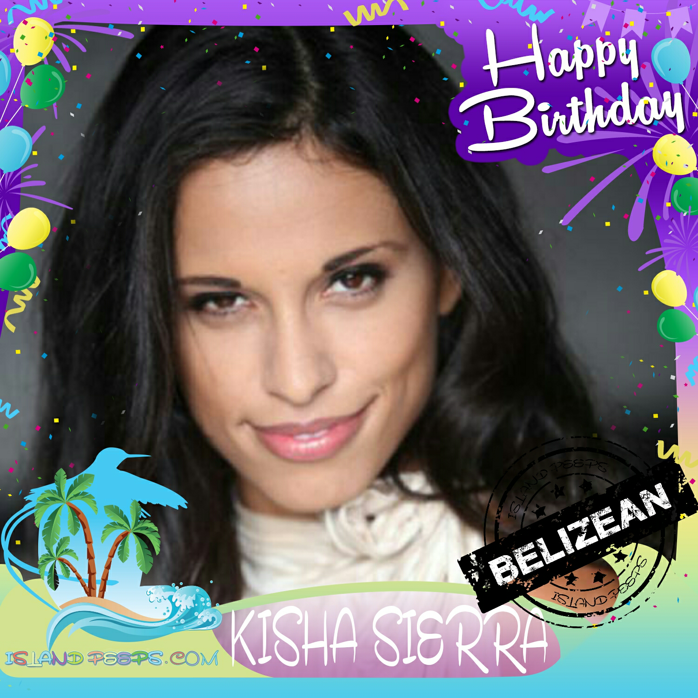 Happy Birthday Kisha Sierra Belizean born American Actress