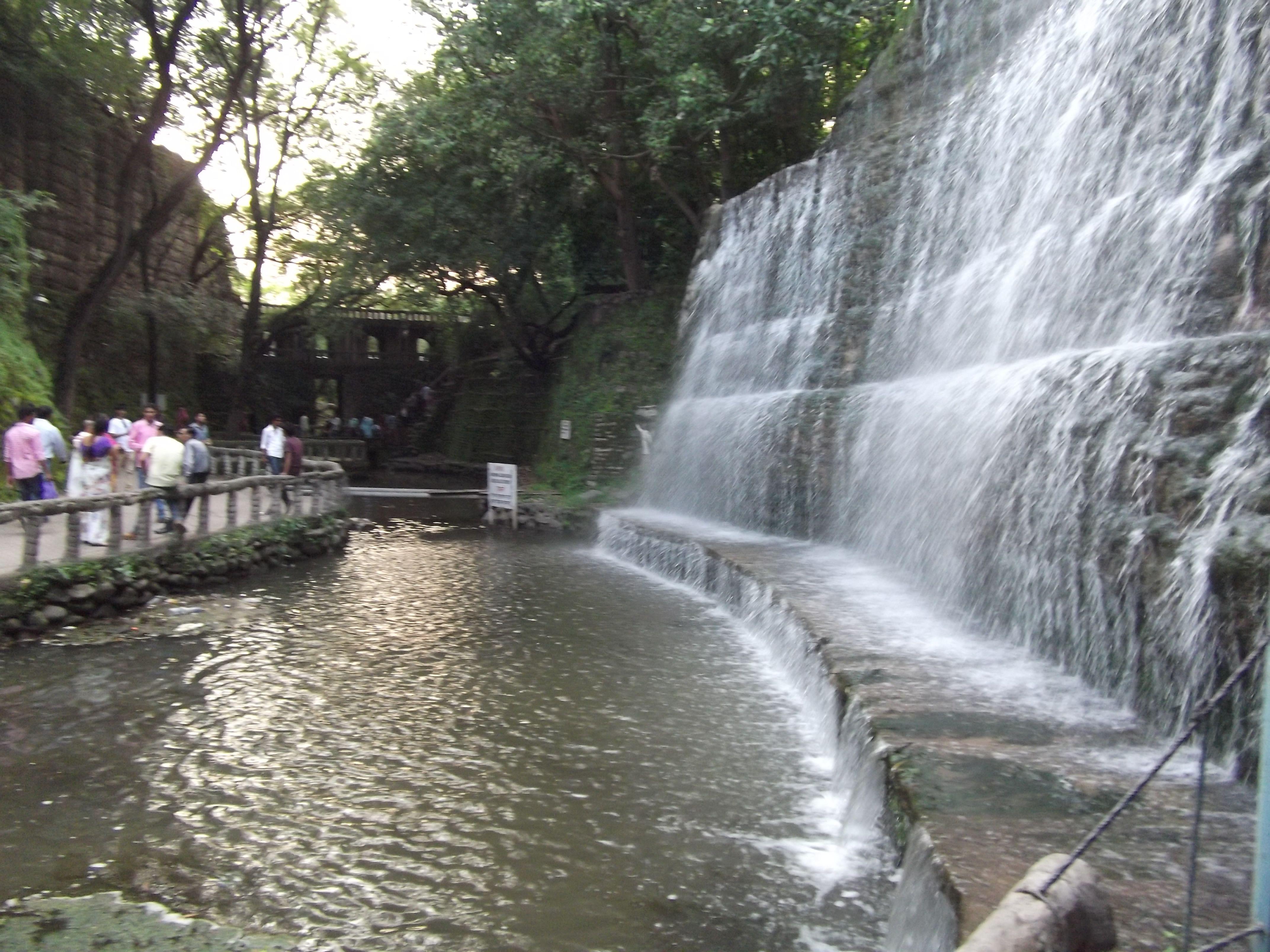 Man Made Waterfall In Rock Garden Chandigarh