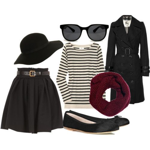 Full Skirt, Stripes, Classic Trench (and I need to wear that hat I've got stored in my closet)    151      28