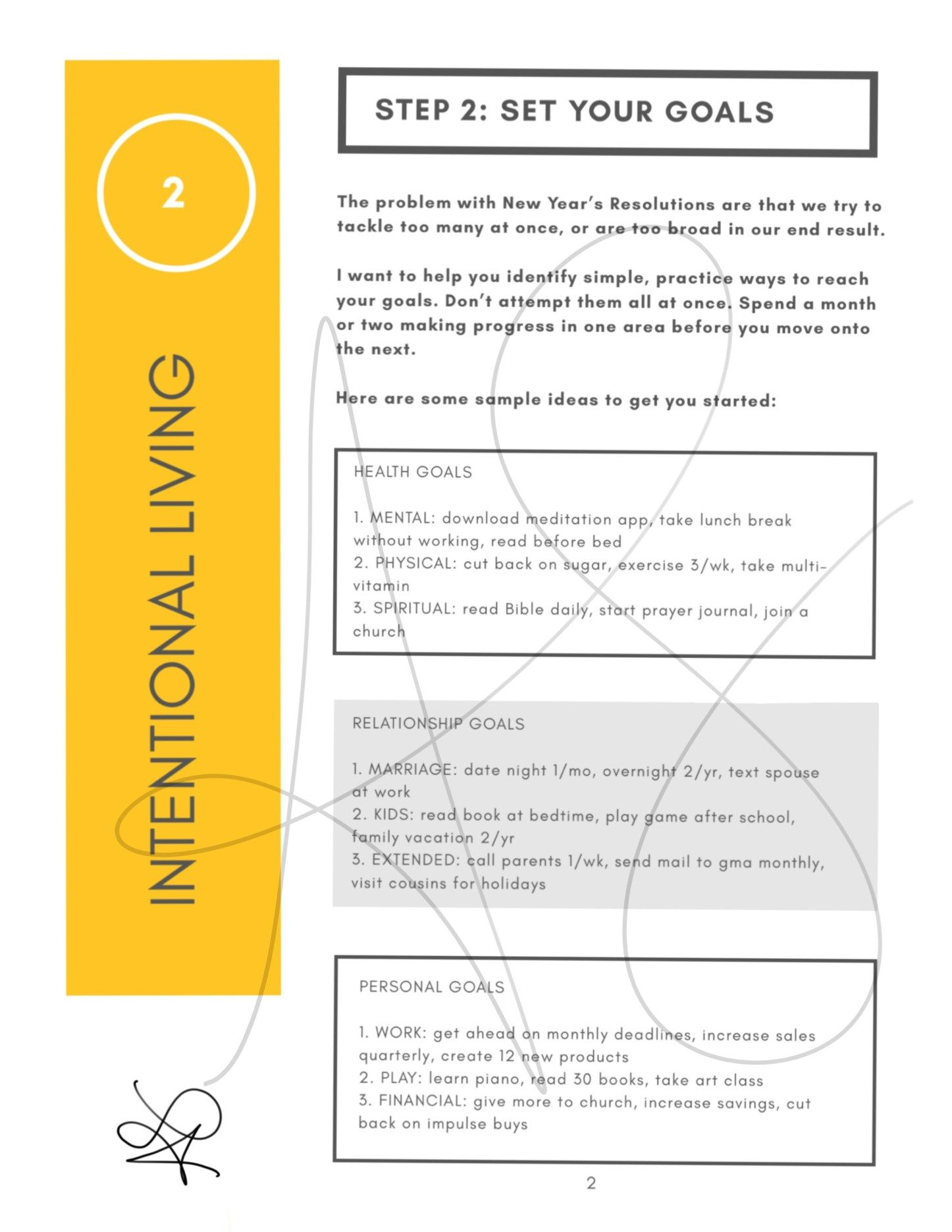 Start The New Year Off Right With This Printable Goal Setting Workbook Workbook Goal Planning Worksheet Word Activities