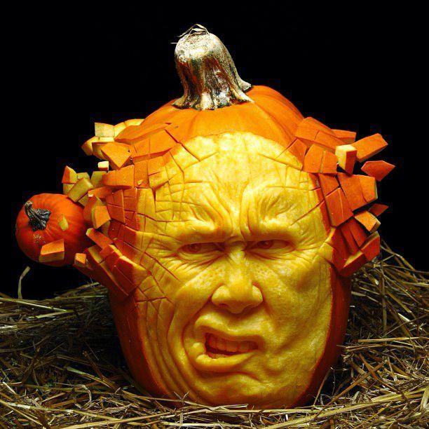 Ray Villafane Creates Insanely Realistic Pumpkin Sculptures Pumpkin Carvings Stencils Pumpkin Art Awesome Pumpkin Carvings