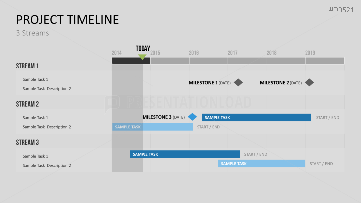PowerPoint Timeline Template for Projects | Presentation Distiller ...
