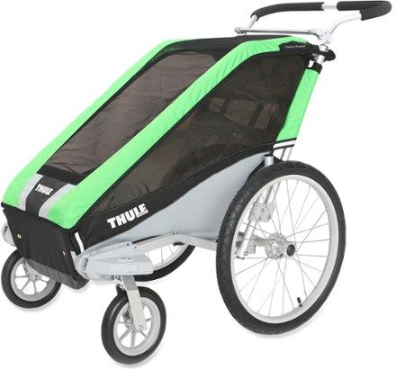 Thule Cheetah 1 Stroller with Strolling Kit Green