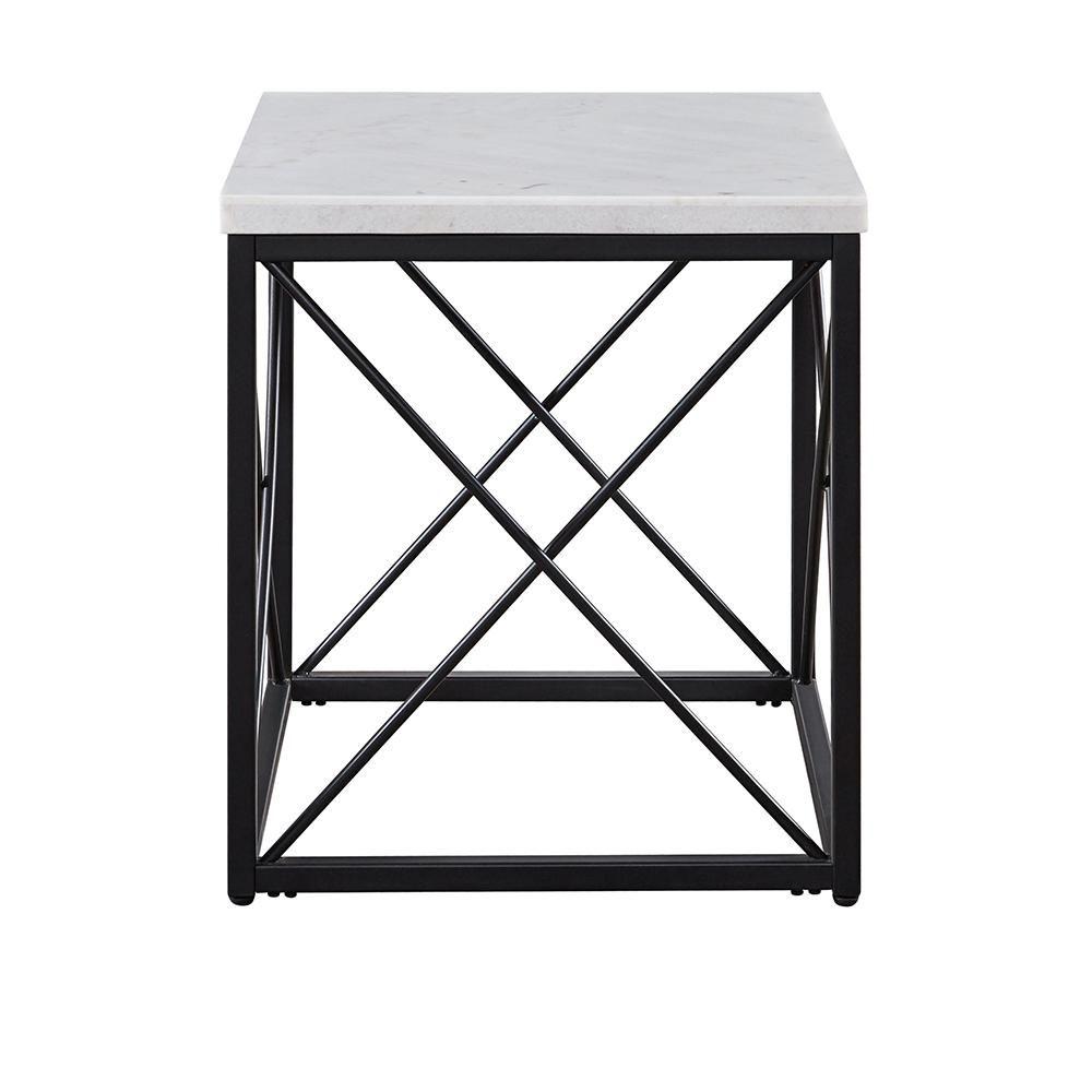Steve Silver Skyler White Marble Top Square End Table Sk200e