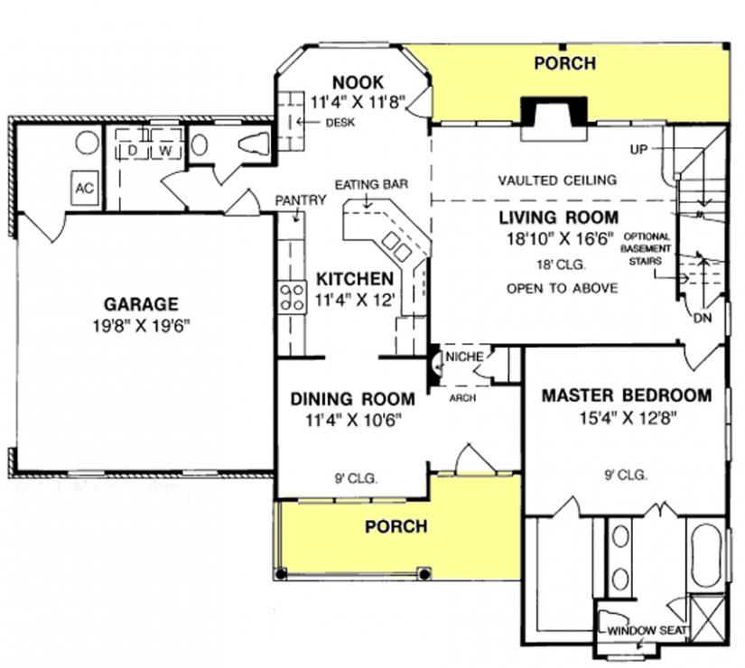 Three Bedroom House Plans With Garage