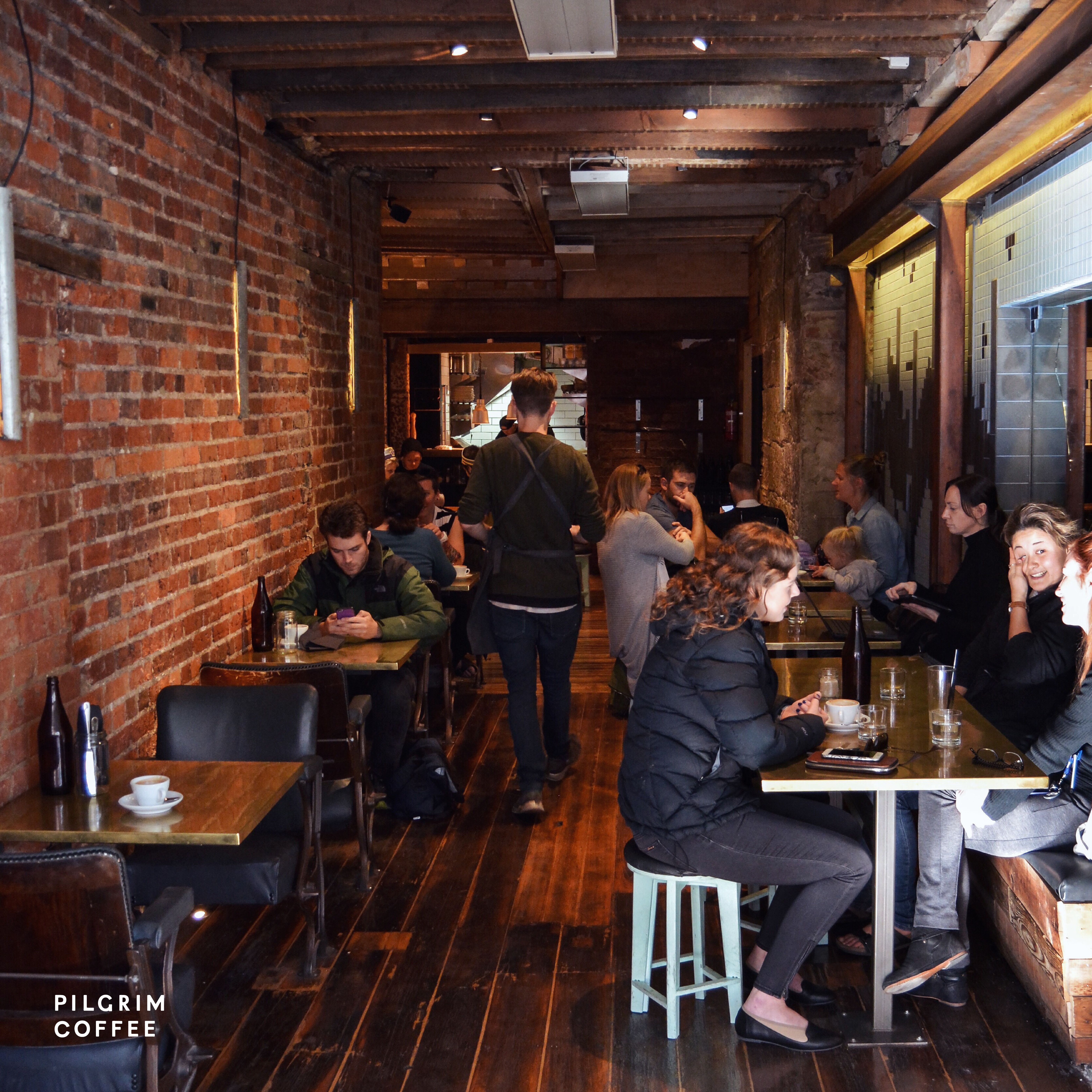 pilgrim coffee | hobart | tasmania. industrial cafe interior