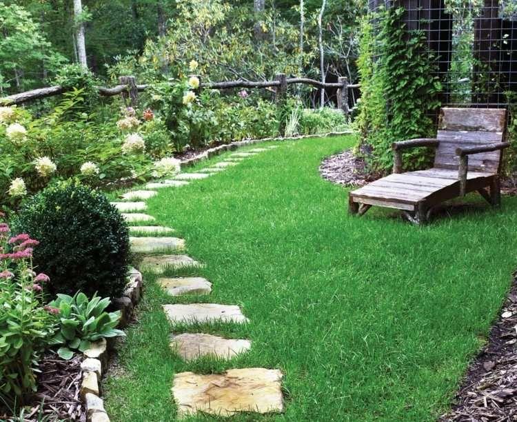 Id es de bordure de jardin en pierre bois et m tal for Bordure de jardin en metal
