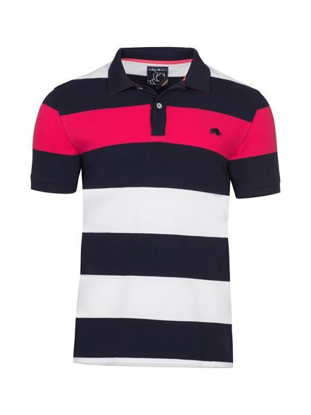 5ad11cde Irregular Hoop Polo - Navy/White/Pink Striped Polo Shirt, Striped Dress,