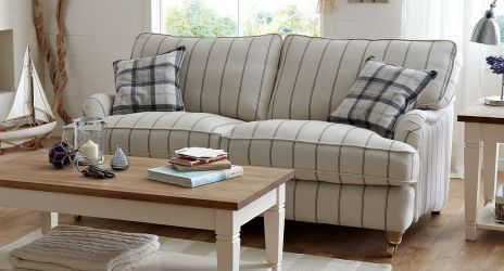 Gower Striped Sofa dfs think sofas think dfs