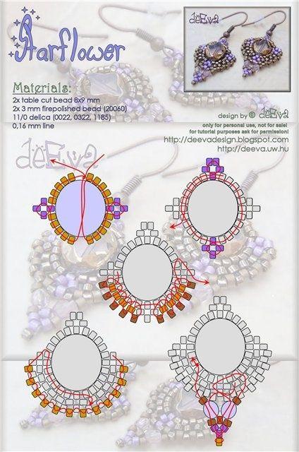 Free pattern | Bead work - jewelry, pattern | Pinterest | Ohringe ...