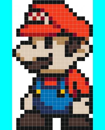 Stickaz Super Plombier Perler Bead Mario Pixel Beads