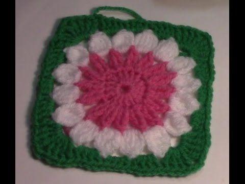 Haken Tutorial 18 Granny Square Met Grote Bloem Youtube Crochet Granny Square Tutorial Granny Square Granny Square Crochet