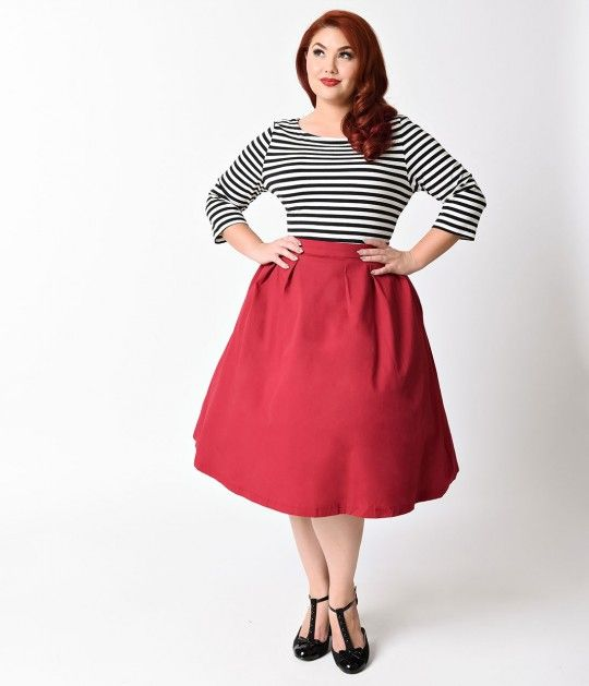 The stripes bined with the red of the skirt though i think a