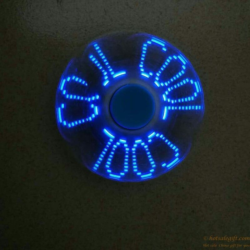 Hot sale colorful blinking text pattern fid spinner with LED