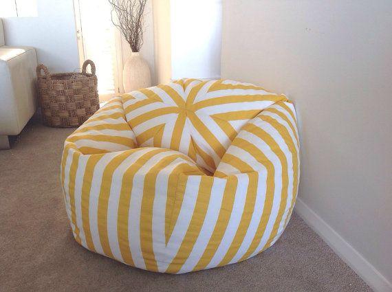Pleasing Bean Bag Canopy Stripe Grey And White Stripes Bean Bag Cover Machost Co Dining Chair Design Ideas Machostcouk