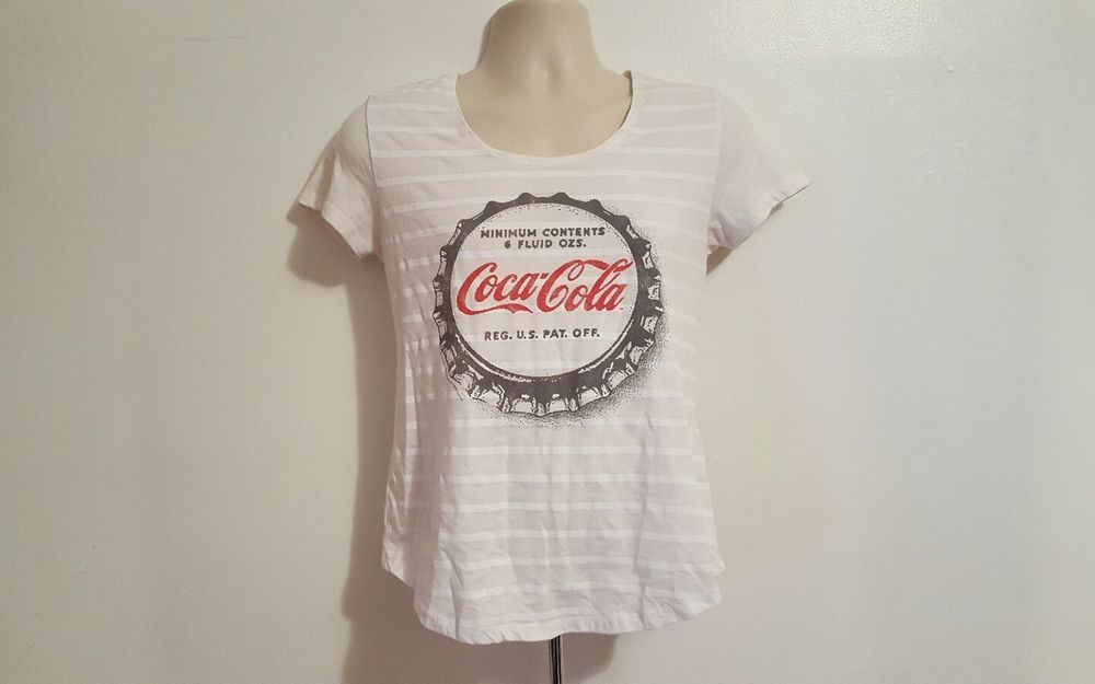 1991d1d4b Old Navy Collectabilitees Womens Small White Coca Cola TShirt #OldNavy # GraphicTee