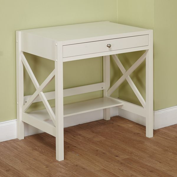 Living Spaces Office Furniture: Simple Living Antique White X Desk