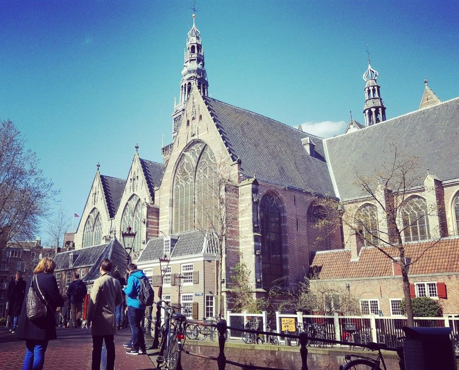 The Old Church In The Red Light District Of Amsterdam Beautiful