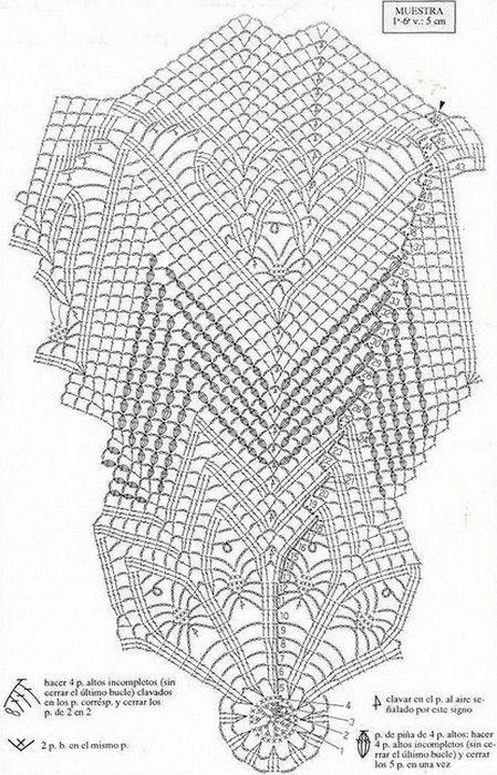 image (1_2) (449x700, 249Kb) | crochet paños | Pinterest | Centros ...
