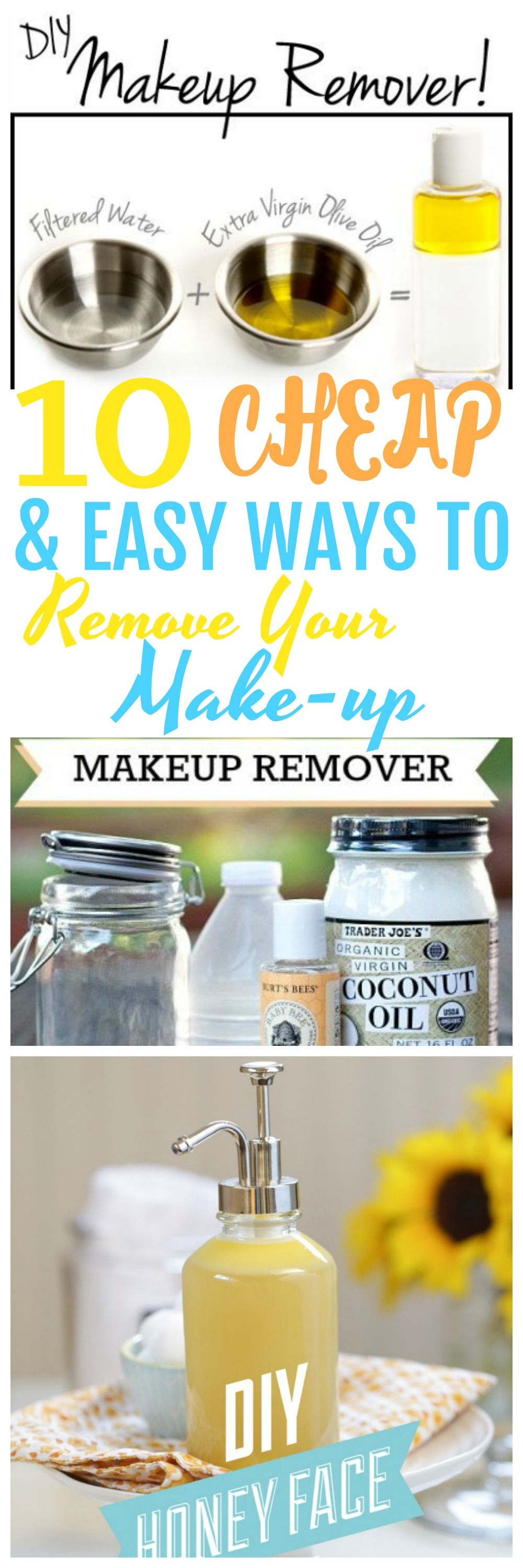 how to remove mascara with coconut oil