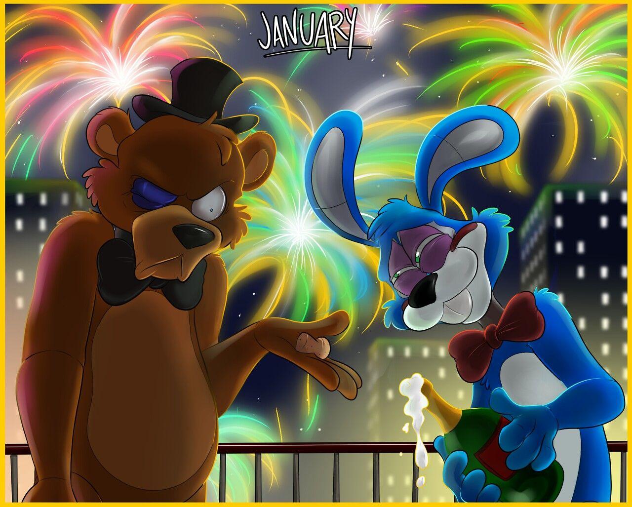 Five Nights At Freddy's Bonnie Animated tony crynight fnaf animation calendar - toy bonnie & freddy