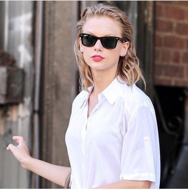 Long Hair Slicked Back White T Shirt Long Live Taylor Swift Taylor Alison Swift Taylor Swift