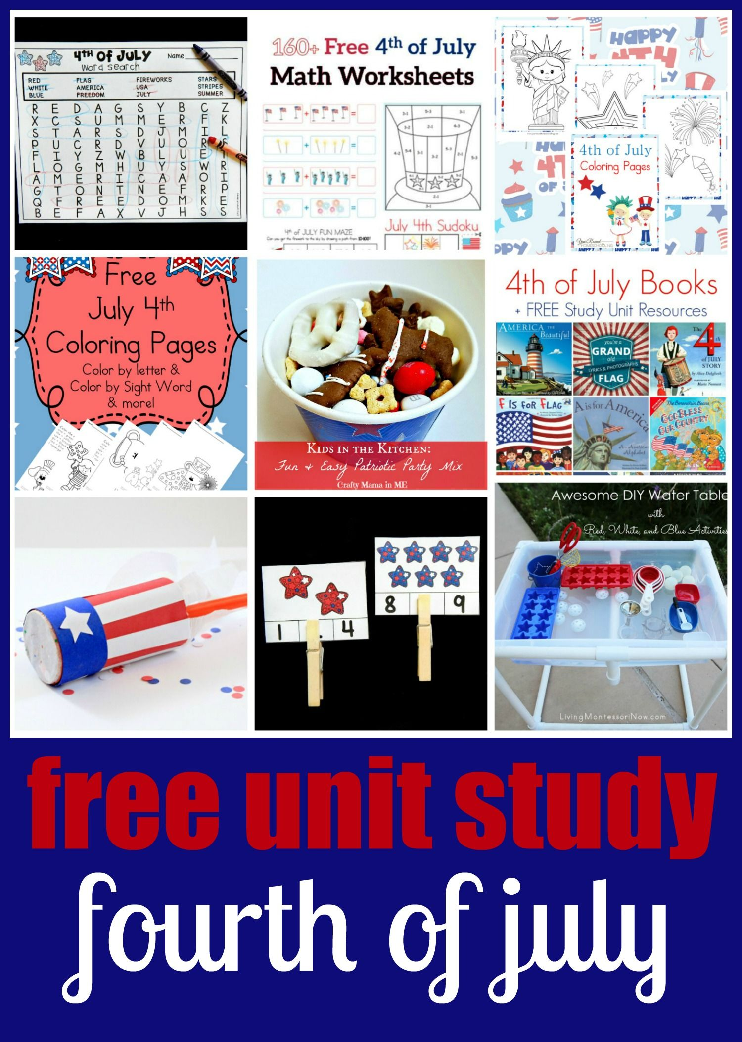 Patriotic Stars Count And Clip Cards Study Unit Activities For Kids July Crafts [ 2105 x 1500 Pixel ]
