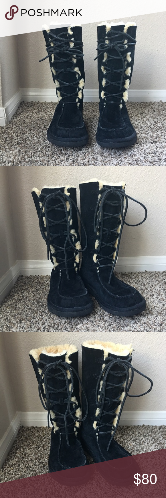 dfcc3a07ba1 closeout black lace up ugg boots 439c5 ebda2