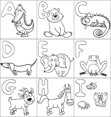 Coloring book with alphabet vector 1016281 - by jenpo on ...