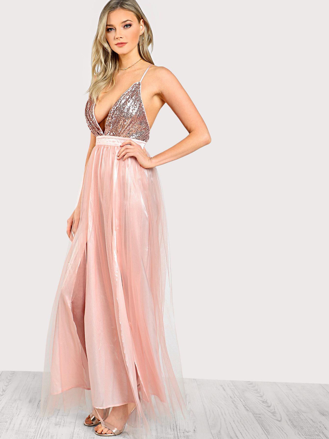 Vestido en malla con lentejuela | links vestidos boda | Pinterest ...