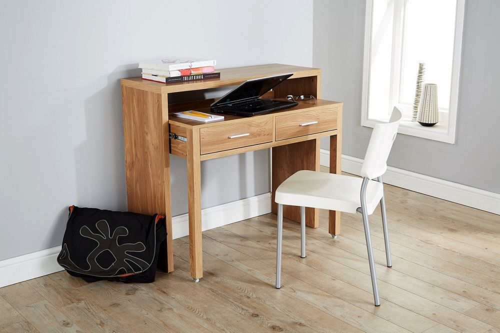 Two Drawers Slide Out From The Unit To Help Keep All Your Pens And Pencils Tidy Available In Oak Effect Office Furniture Sale Oak Desk Home Office Furniture