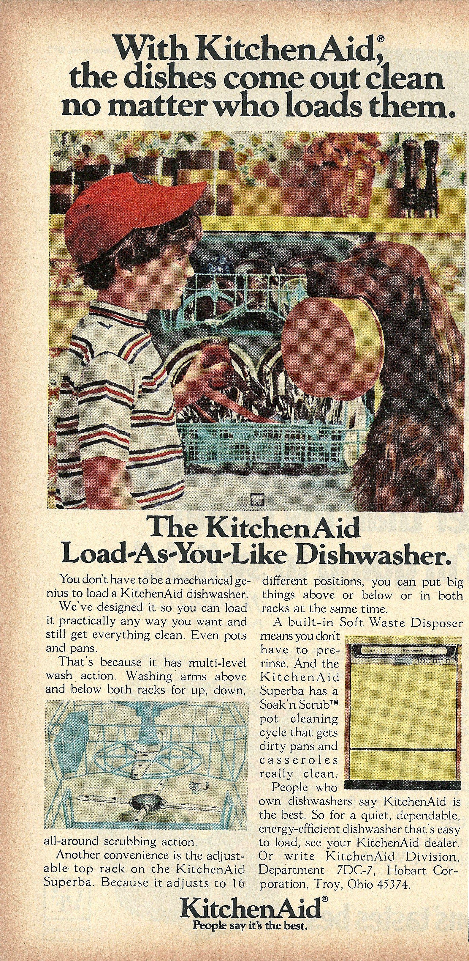 kitchenaid superba dishwasher vintage
