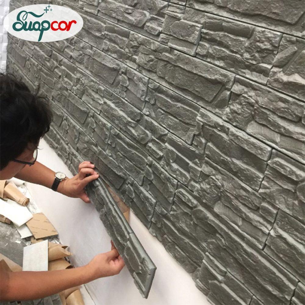 Self Adhesive 3d Wall Sticker Kids Room Waterproof Background Brick Pattern Wallpaper Mural Livi In 2020 Plastic Wall Panels Brick Wall Paneling Decorative Wall Panels