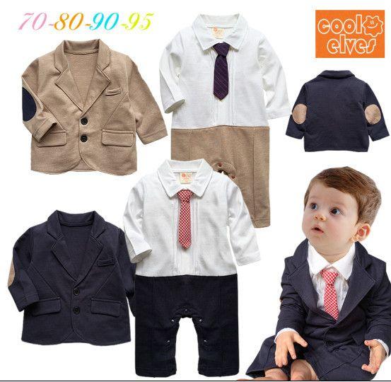 7dd96e2ad Aliexpress.com  Comprar Bebé señores infantil ropa niño del niño infantil  de color caqui algodón de moda completa long tie jacket + de la ropa del  mameluco ...