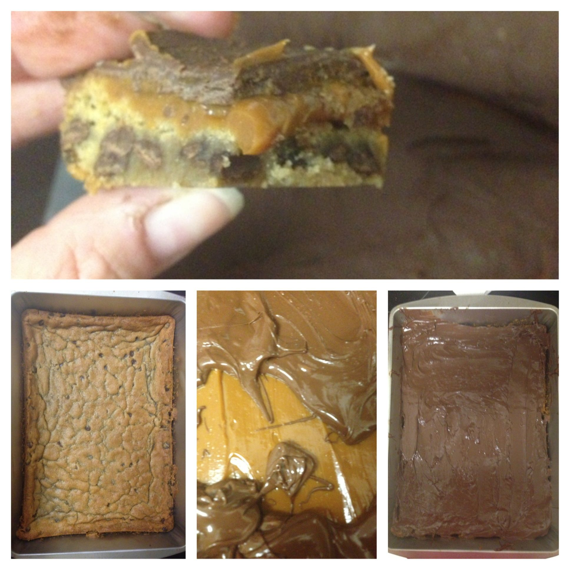 Photo of Chocolate Caramel Cookie Bites  Take 1 30 oz prepared package of chocolate chip …