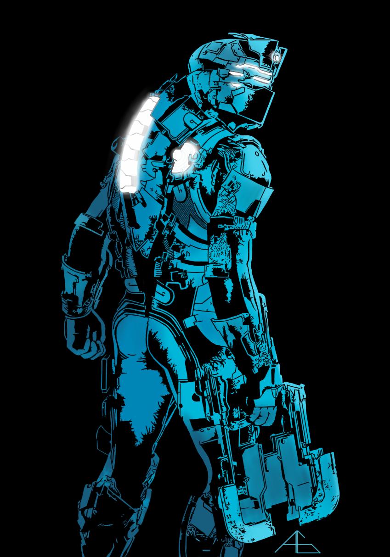 Dead Space Isaac Clarke Snow Suit Version Sixth Scale Figure Dead Space Suits Dead Space Space Suit